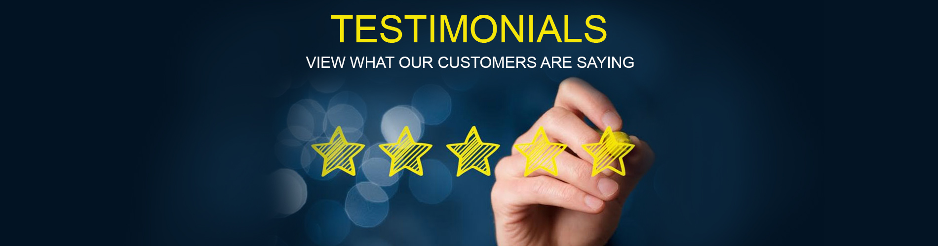 Read testimonials & reviews of what our customers say about us!